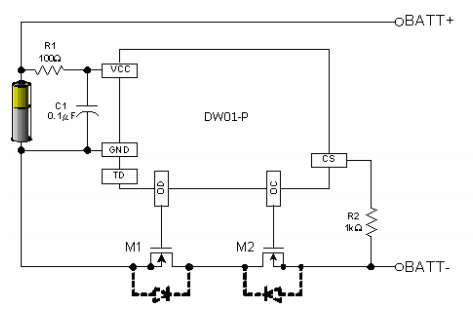 Typical DW01 application circuit